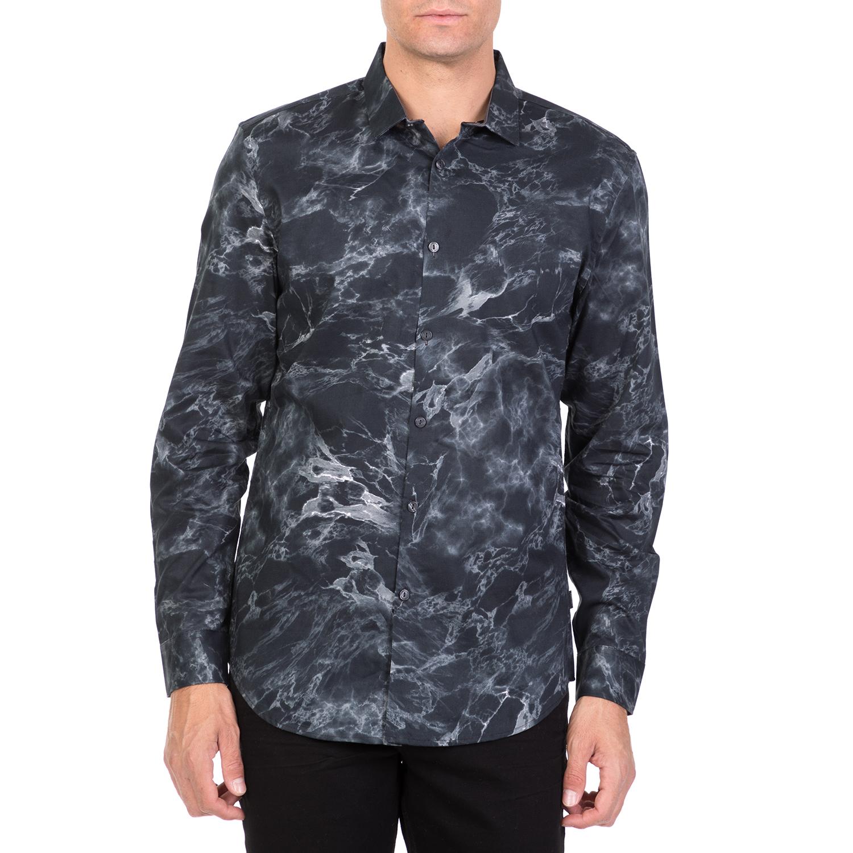 CALVIN KLEIN JEANS - Ανδρικό μακρυμάνικο πουκάμισο CALVIN KLEIN JEANS MARBLE PRI ανδρικά ρούχα πουκάμισα μακρυμάνικα