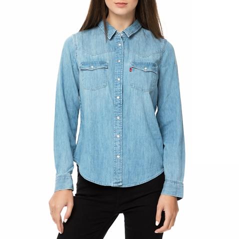 163569eb01a5 Γυναικείο τζιν πουκάμισο Levi s MODERN WESTERN SEASCAPE μπλε ανοιχτό  (1693603.0-0013)