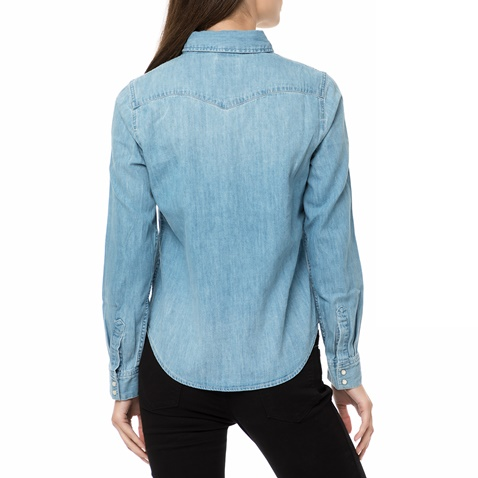 e2737976f15d Γυναικείο τζιν πουκάμισο Levi s MODERN WESTERN SEASCAPE μπλε ανοιχτό ...