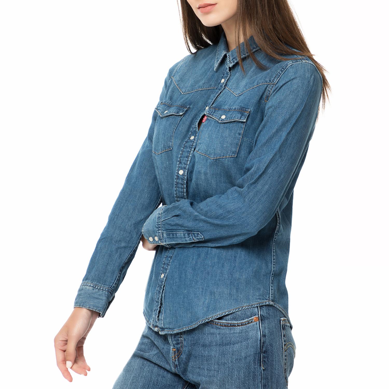 0bca9b0e9823 LEVI S - Γυναικείο τζιν πουκάμισο MODERN WESTERN SAN FRANCISCO μπλε σκούρο