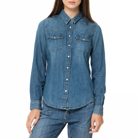 4a67de37be42 Γυναικείο τζιν πουκάμισο MODERN WESTERN SAN FRANCISCO μπλε σκούρο - LEVI S  (1693604.0-0013)