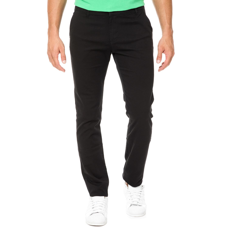 DORS - Ανδρικό chino παντελόνι DORS μαύρο ανδρικά ρούχα παντελόνια chinos