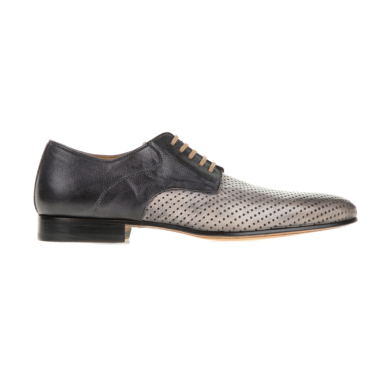PERLAMODA – Ανδρικά δετά παπούτσια PERLAMODA γκρι-μπεζ