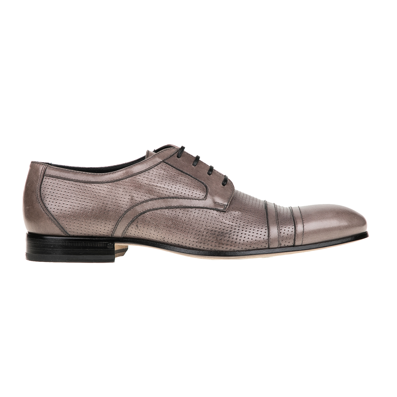 PERLAMODA – Ανδρικά δετά παπούτσια PERLAMODA γκρι