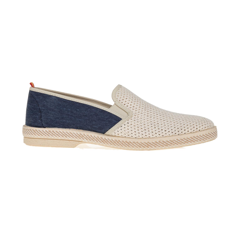 PERLAMODA – Ανδρικά παπούτσια PERLAMODA μπεζ-ντένιμ