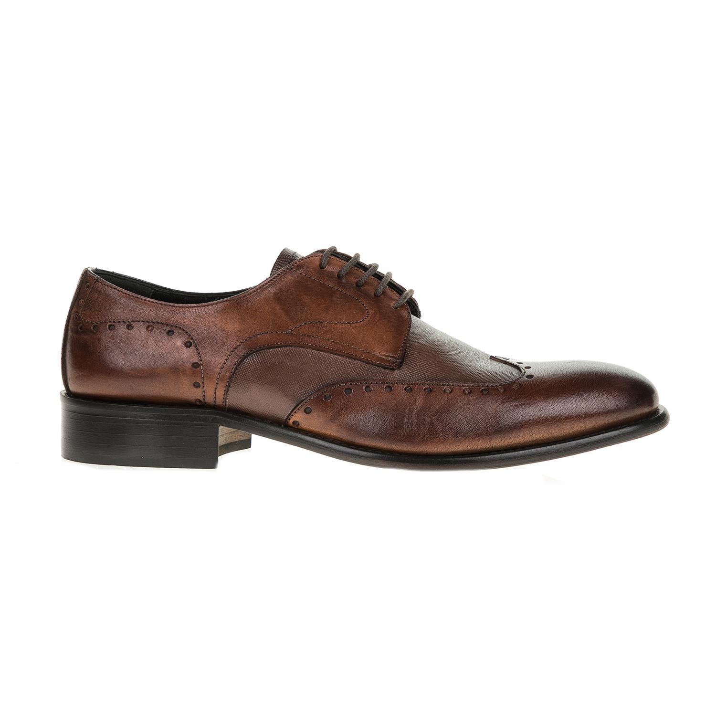 PERLAMODA – Ανδρικά δετά παπούτσια PERLAMODA καφέ