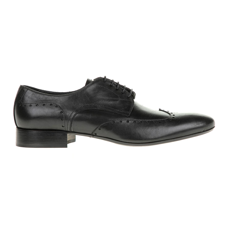 PERLAMODA - Ανδρικά δετά παπούτσια PERLAMODA μαύρα ανδρικά παπούτσια δετά επίσημα
