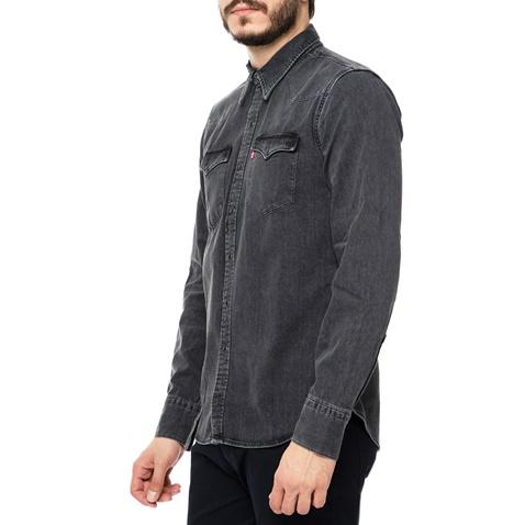 772d4c12b514 Ανδρικό μακρυμάνικο τζιν πουκάμισο Levi s BARSTOW WESTERN σκούρο γκρι