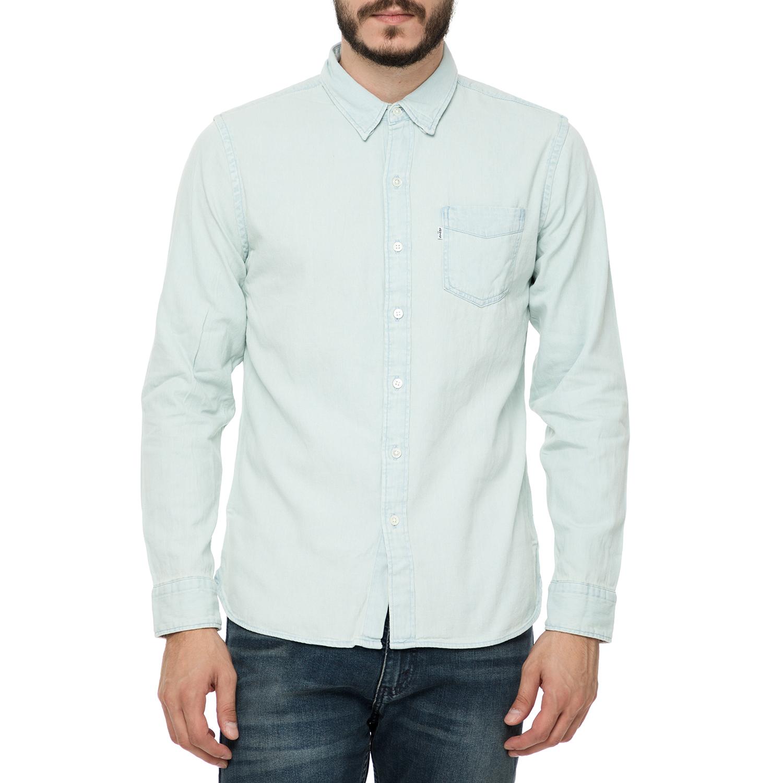 6e46ac22e622 LEVI S – Ανδρικό μακρυμάνικο τζιν πουκάμισο Levi s SUNSET γαλάζιο ανοιχτό  38