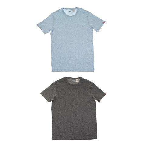 Σετ από 2 ανδρικές κοντομάνικες μπλούζες LEVI S SLIM γκρι και γαλάζια  (1694098.0-0013)  96a9663d5e6