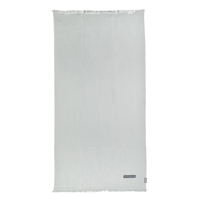 JUST POLO - Unisex πετσέτα θαλάσσης - παρεό JUST POLO γκρι γυναικεία αξεσουάρ πετσέτες