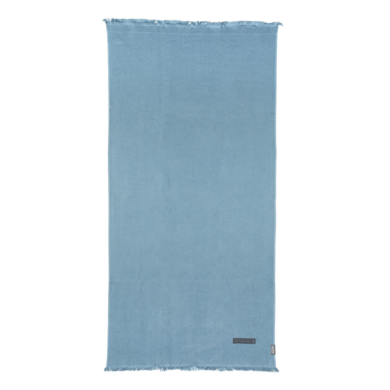 JUST POLO - Unisex πετσέτα θαλάσσης - παρεό JUST POLO μπλε γυναικεία αξεσουάρ πετσέτες
