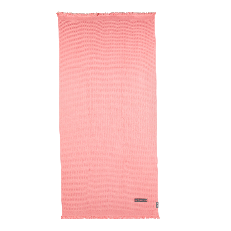JUST POLO - Unisex πετσέτα θαλάσσης - παρεό JUST POLO ροζ γυναικεία αξεσουάρ πετσέτες