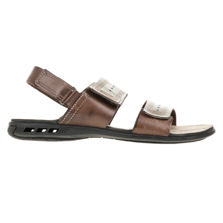 PEGADA - Ανδρικά πέδιλα με βέλκρο PEGADA καφέ ανδρικά παπούτσια πέδιλα