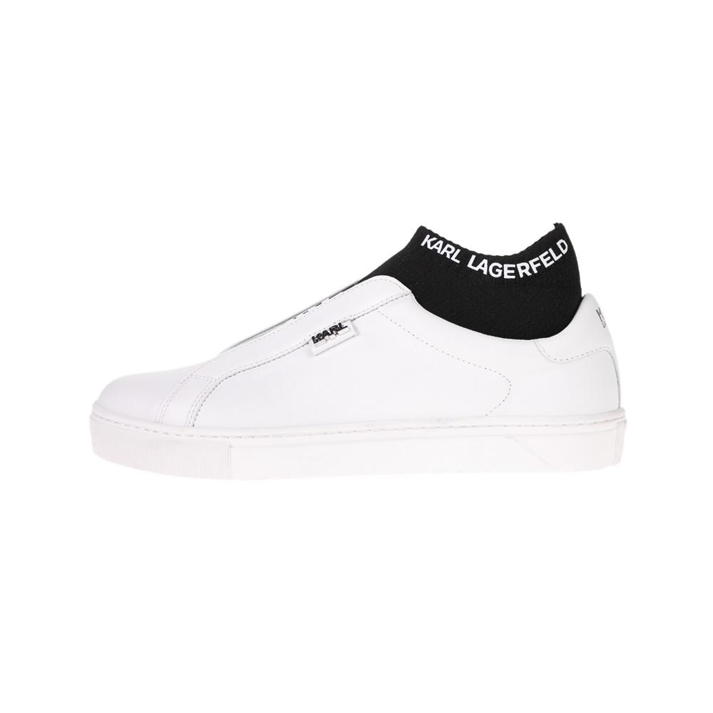 KARL LAGERFELD – Γυναικεία sneakers KARL LAGERFELD KUPSOLE Knit Sock Lo λευκά