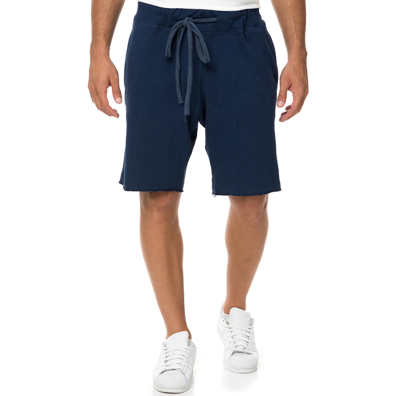 DIRTY LAUNDRY - Ανδρική βερμούδα DIRTY LAUNDRY FLEECE CORDONS μπλε σκούρη ανδρικά ρούχα σορτς βερμούδες casual jean