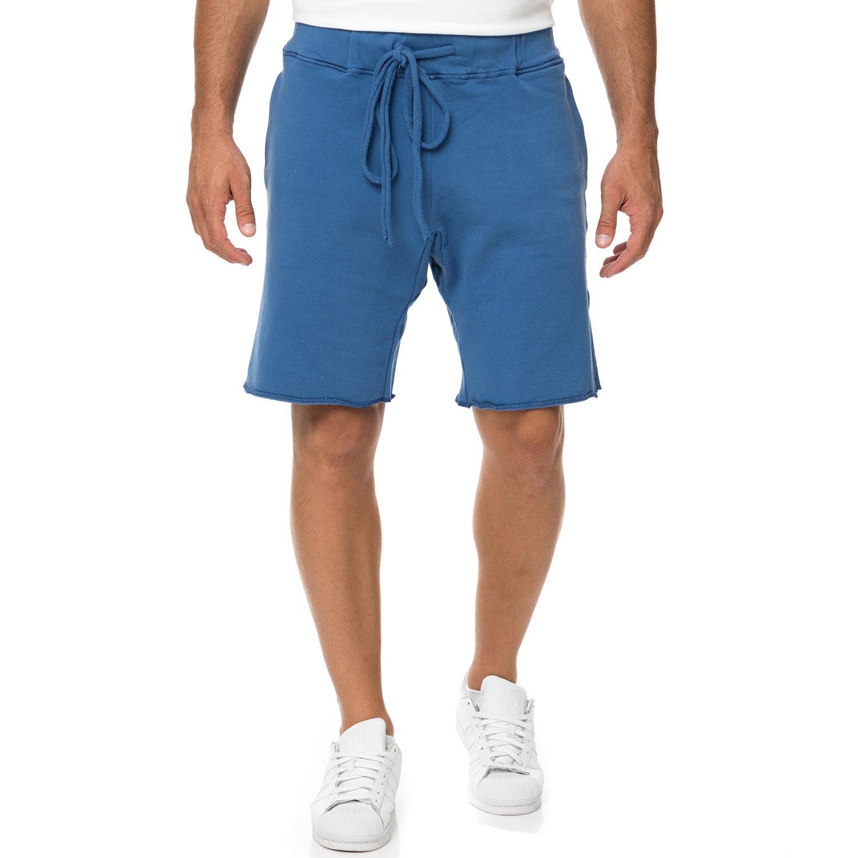 DIRTY LAUNDRY - Ανδρική βερμούδα DIRTY LAUNDRY FLEECE CORDON μπλε ανδρικά ρούχα σορτς βερμούδες casual jean