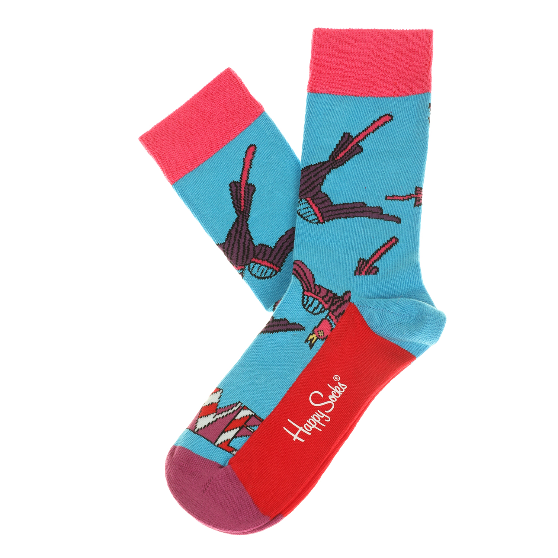 HAPPY SOCKS - Unisex κάλτσες HAPPY SOCKS μπλε με print