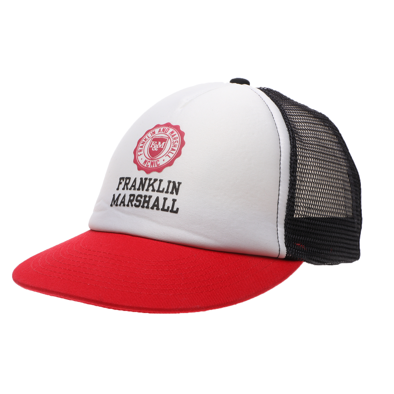 FRANKLIN & MARSHALL - Unisex καπέλο jockey FRANKLIN & MARSHALL ασπρόμαυρο