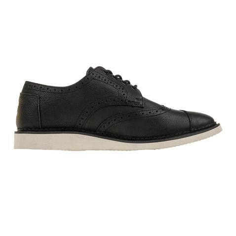 Ανδρικά δετά δερμάτινα παπούτσια TOMS μαύρα (1700096.0-7107 ... f46bccdd1e3