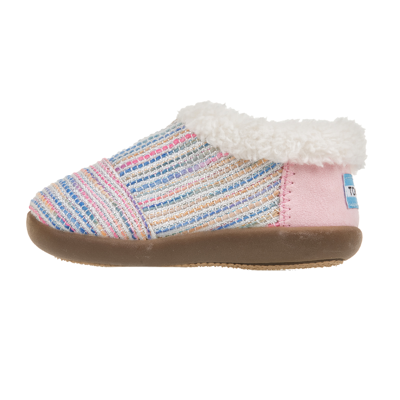 TOMS - Πλεκτά παντοφλάκια TOMS ροζ παιδικά girls παπούτσια παντόφλες