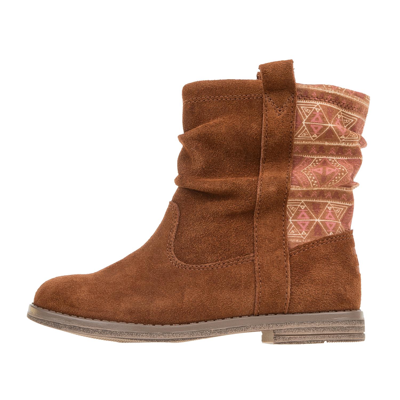 TOMS – Κοριτσίστικες suede μπότες TOMS καφέ με print