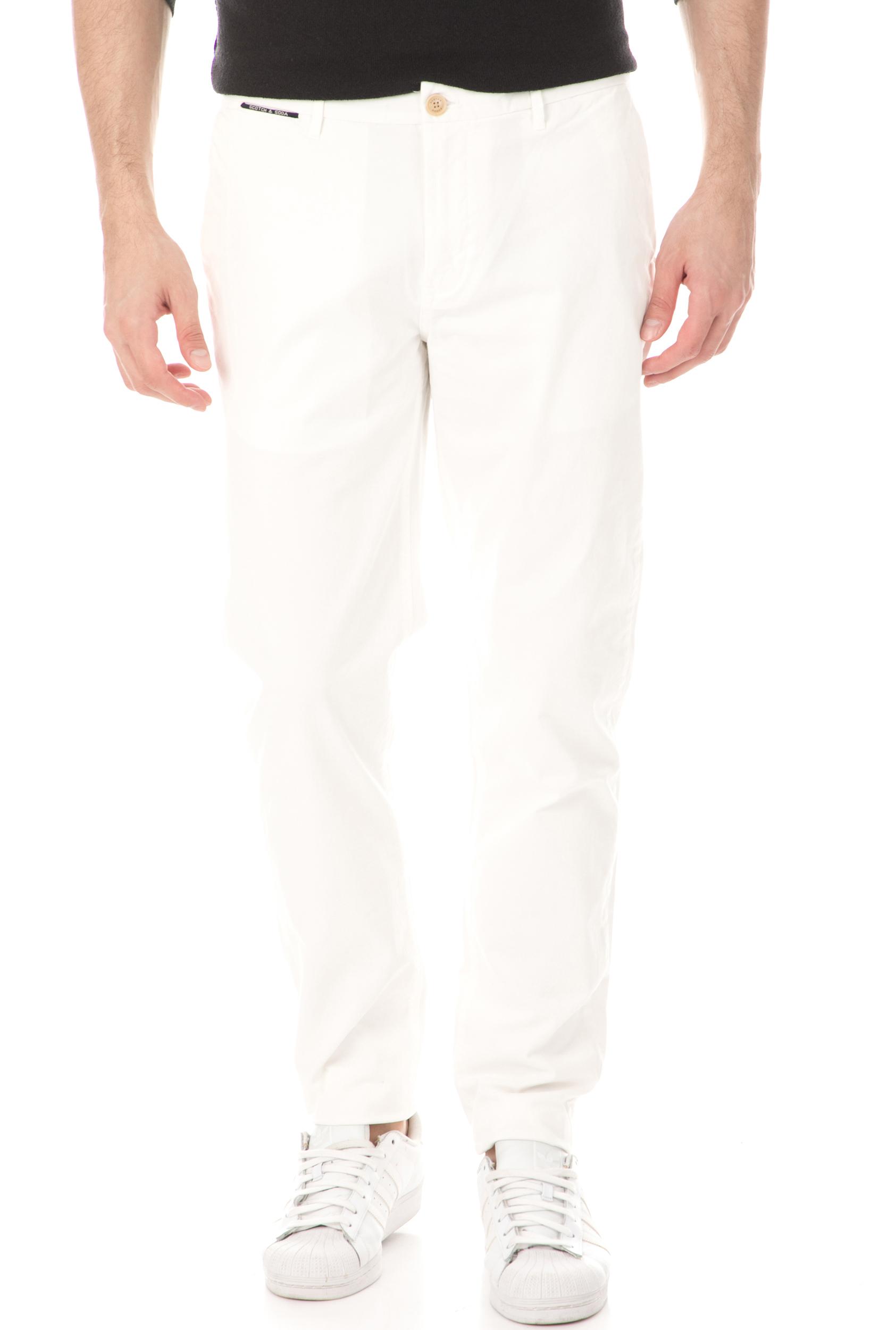 SCOTCH & SODA - Ανδρικό παντελόνι SCOTCH & SODA λευκό