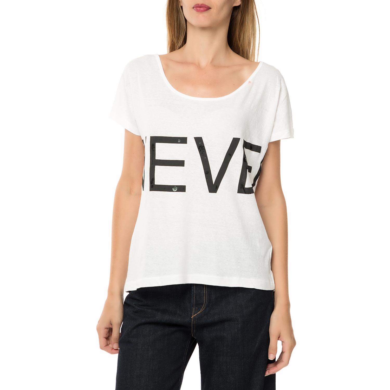 a97538441a31 -40% REPLAY – Γυναικεία κοντομάνικη μπλούζα REPLAY λευκή