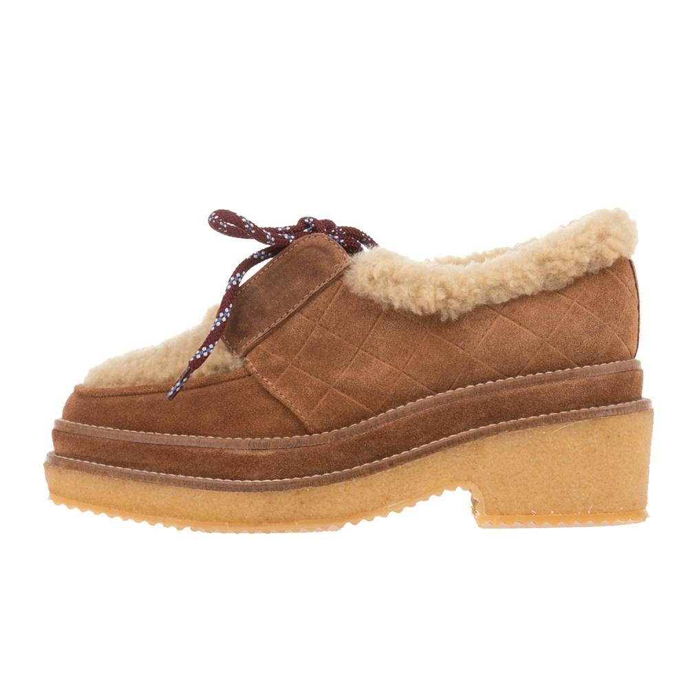 CASTANER - Γυναικεία δετά παπούτσια CASTANER NEIJANG καφέ γυναικεία παπούτσια μοκασίνια μπαλαρίνες μοκασίνια