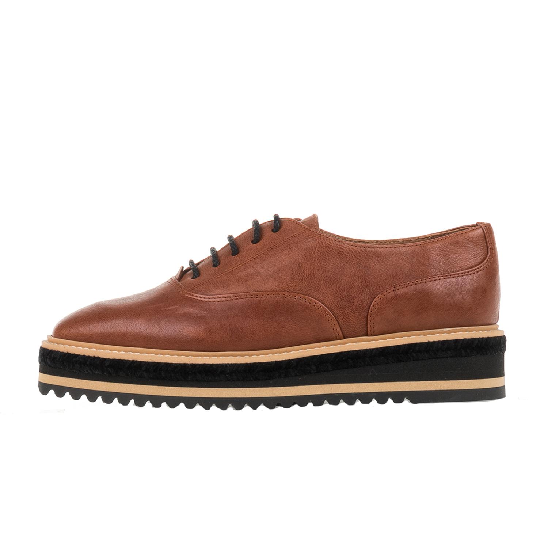 CASTANER – Γυναικεία δετά flatforms παπούτσια CASTANER FUNES καφέ