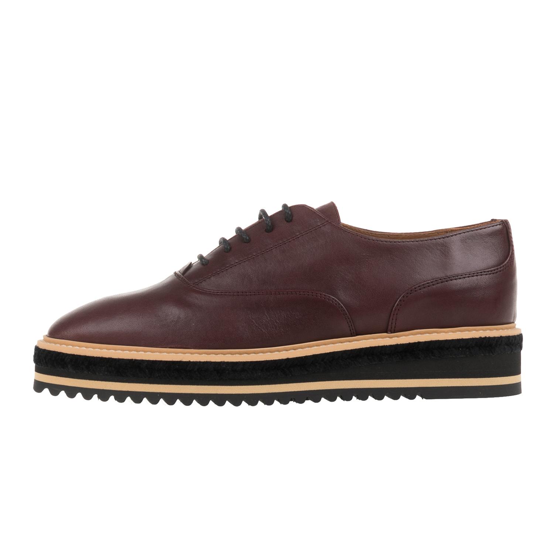CASTANER - Γυναικεία δετά flatforms παπούτσια CASTANER FUNES μπορντό γυναικεία παπούτσια μοκασίνια μπαλαρίνες μοκασίνια