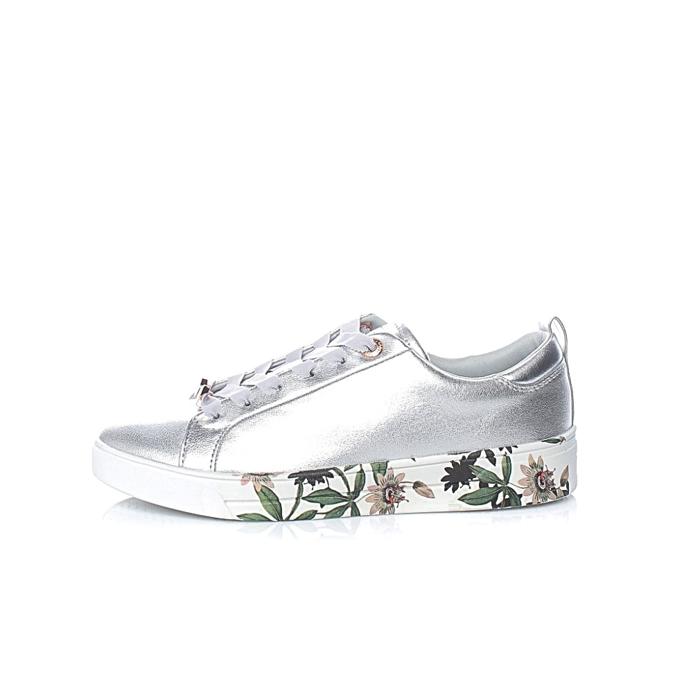 TED BAKER – Γυναικεία sneakers TED BAKER ROULLY ασημί απόχρωση