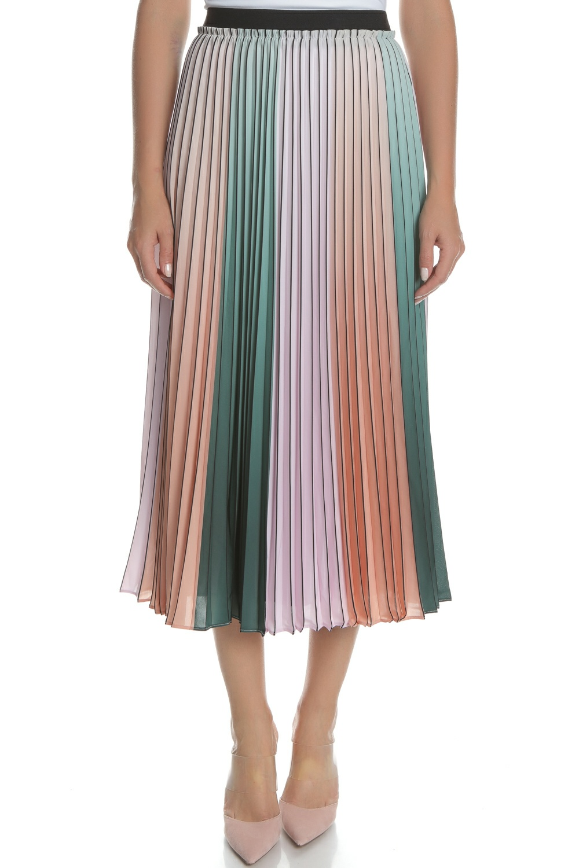 TED BAKER - Γυναικεία midi πλισέ φούστα TED BAKER πολύχρωμη
