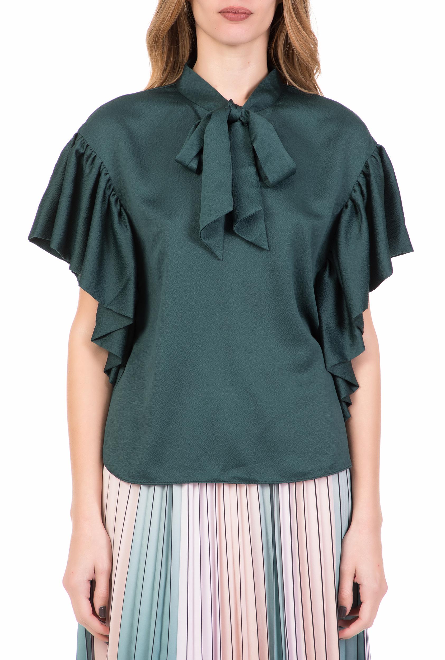 TED BAKER - Γυναικεία πουκαμίσα TED BAKER ROBYNN πράσινη