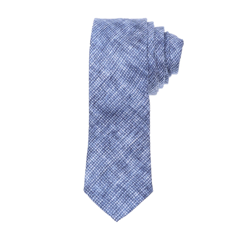 CK - Ανδρική γραβάτα CK PRINTED STRUCTURED μπλε