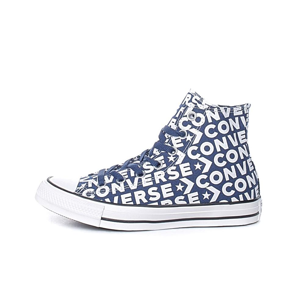 CONVERSE – Unisex μποτάκια CONVERSE Chuck Taylor All Star Hi μπλε-λευκά