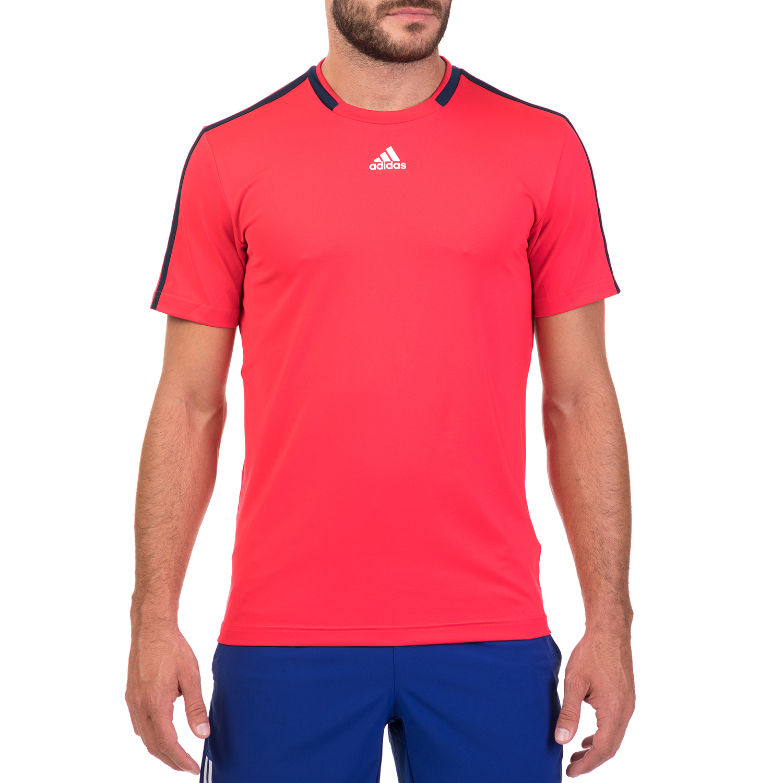 adidas Performance - Άνδρική κοντομάνικη μπλούζα adidas CLUB TEE κόκκινη ανδρικά ρούχα αθλητικά t shirt