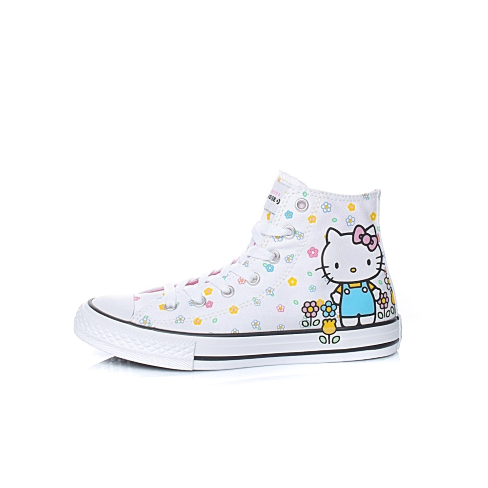 CONVERSE – Παιδικά μποτάκια Converse X Hello Kitty Chuck Taylor All Star Hi λευκά