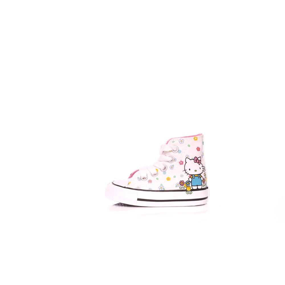 CONVERSE – Βρεφικά μποτάκια Converse X Hello Kitty Chuck Taylor All Star Hi λευκά