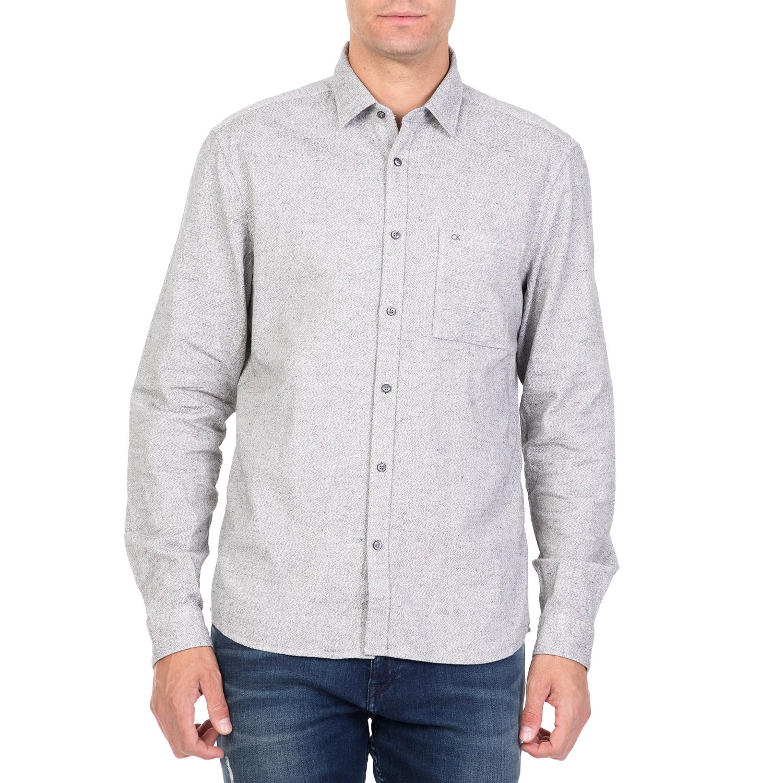 CALVIN KLEIN JEANS - Ανδρικό μακρυμάνικο πουκάμισο CALVIN KLEIN JEANS GALEN HEAT ανδρικά ρούχα πουκάμισα μακρυμάνικα