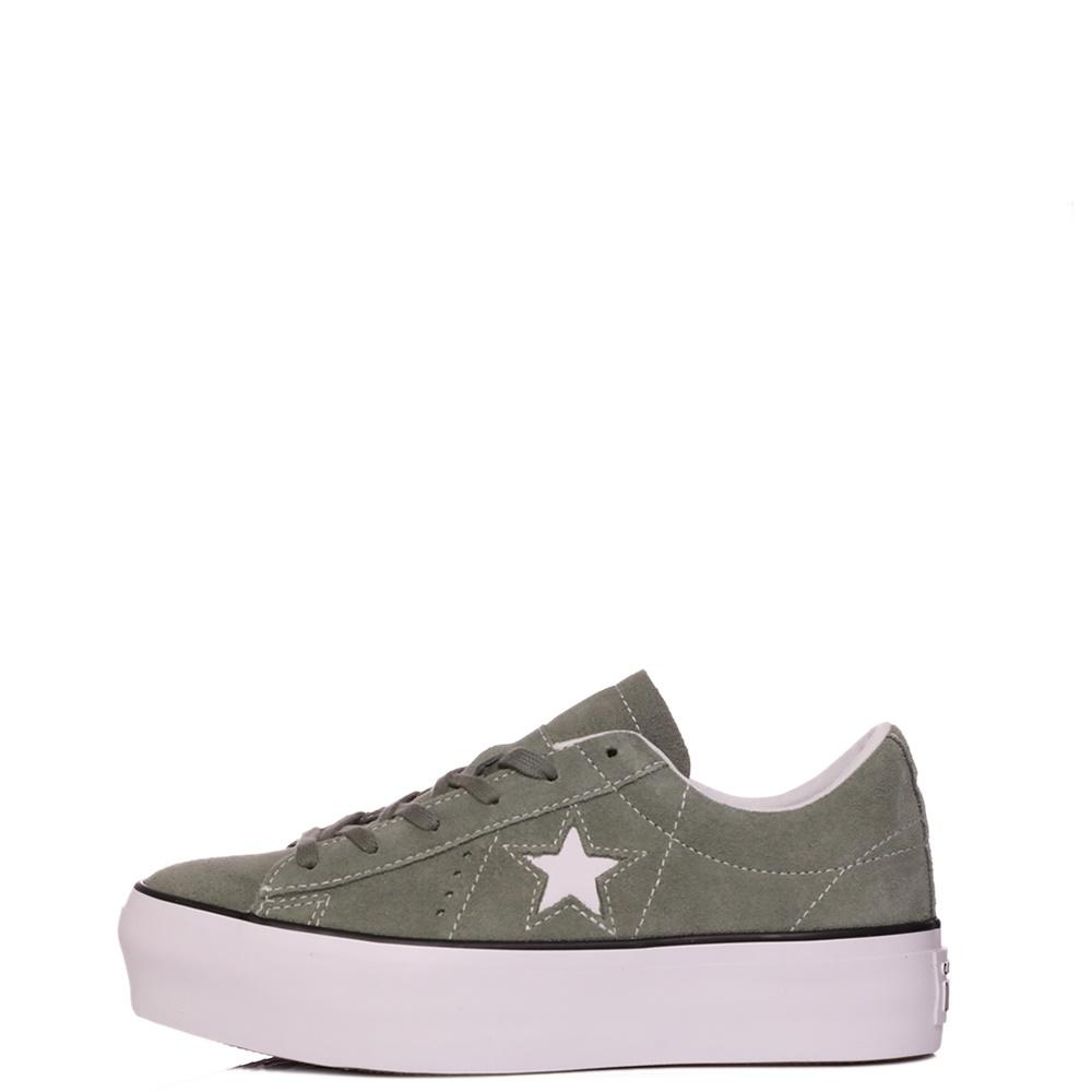 CONVERSE – Γυναικεία sneakers CONVERSE One Star Platform γκρι