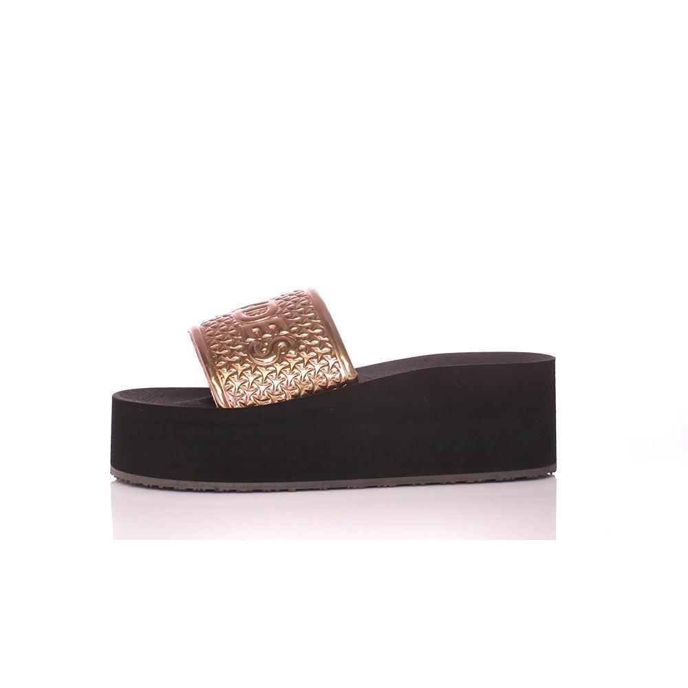 SLYDES – Γυναικείες πλατφόρμες SLYDES BRONX χρυσό – μαύρο
