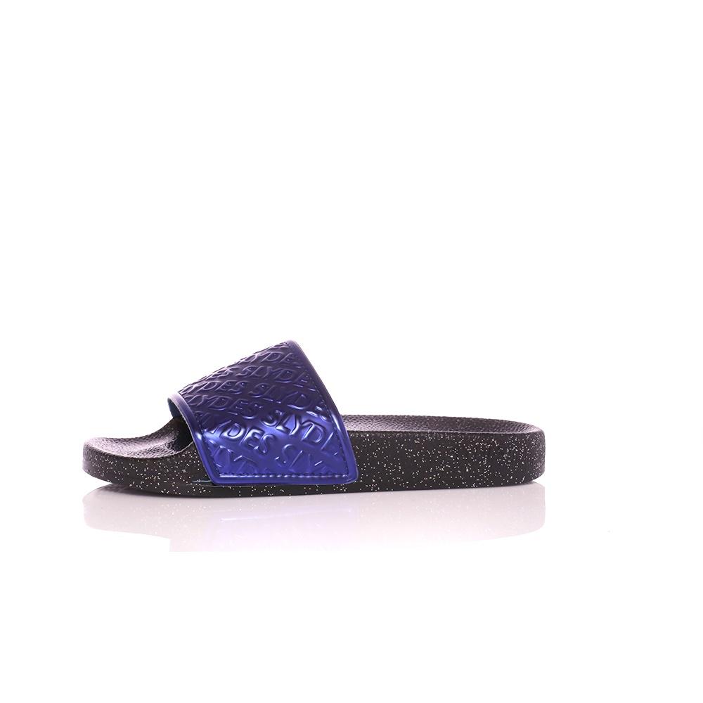 SLYDES – Γυναικείες σαγιονάρες SLYDES μαύρο – μεταλλικό μπλε