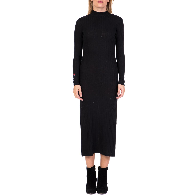 DEVERGO JEANS - Γυναικείο μακρύ φόρεμα DEVERGO JEANS μαύρο γυναικεία ρούχα φορέματα μάξι