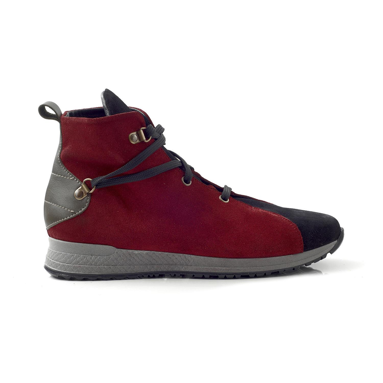 CHANIOTAKIS – Γυναικεία sneakers μποτάκια CHANIOTAKIS SPORT SOFTY μπορντό-μαύρα