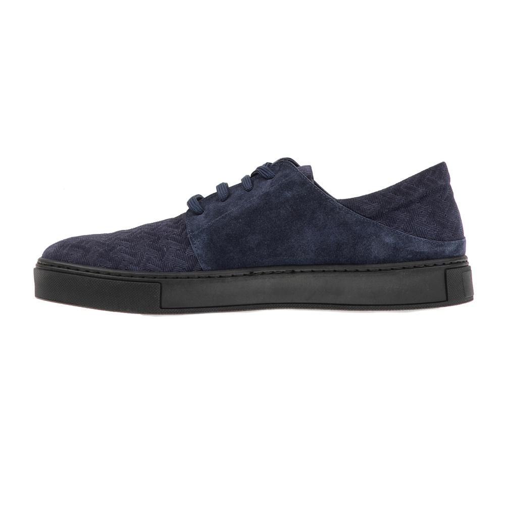 CHANIOTAKIS – Ανδρικά δερμάτινα sneakers CHANIOTAKIS SPORT ADRIANO μπλε σκούρα