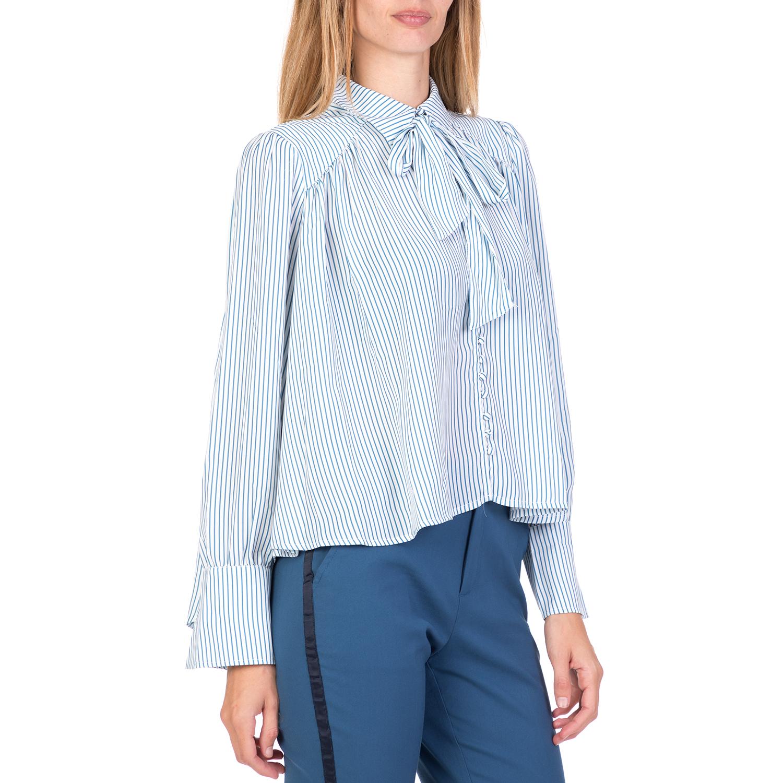 9ce14b3ffa0 FUNKY BUDDHA - Γυναικείο μακρυμάνικο πουκάμισο FUNKY BUDDHA ριγέ ...