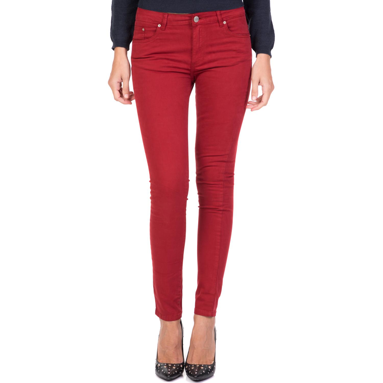 8df3a4c7dc9b FUNKY BUDDHA - Γυναικείο skinny παντελόνι FUNKY BUDDHA κόκκινο ...