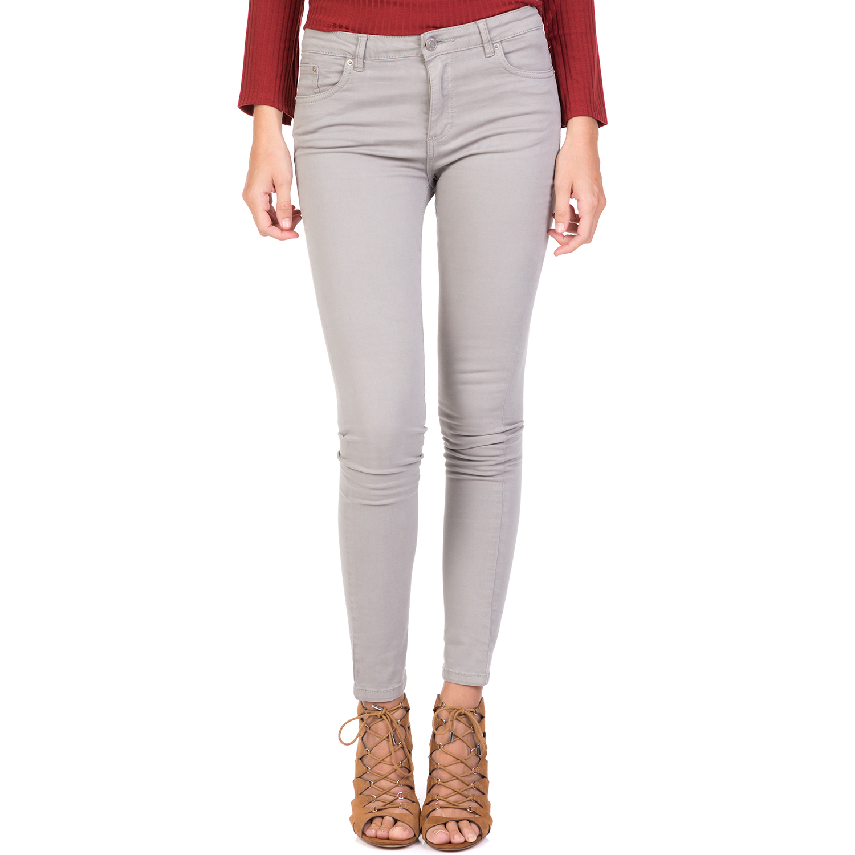 FUNKY BUDDHA - Γυναικείο skinny παντελόνι FUNKY BUDDHA γκρι γυναικεία ρούχα παντελόνια skinny