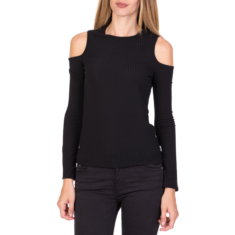 46d0d68eb360 FUNKY BUDDHA – Γυναικεία μακρυμάνικη μπλούζα FUNKY BUDDHA μαύρη. Factory  Outlet